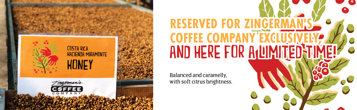 Balanced and caramelly, with soft citrus brightness. Reserved for Zingerman's Coffee Company exclusively, and here for a limited time!