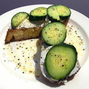 english summer cucumber toast