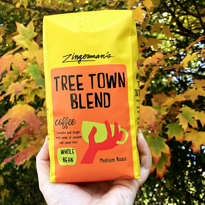 tree town blend coffee bag