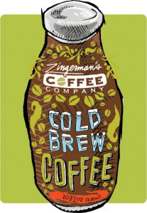 cold brew coffee bottle illustration