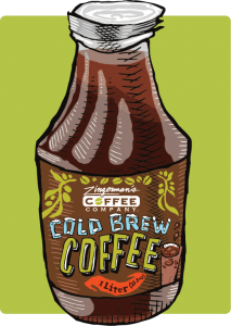 cold brew coffee bottle liter illustration